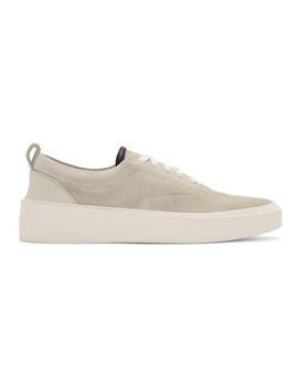 Grey Suede 101 Lace Up Sneakers by Fear Of God