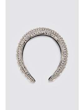 Bejeweled Quilted Headband View All Accessories Woman by Zara