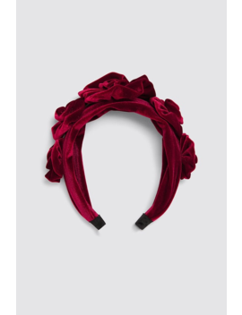 Velvet Floral Headband View All Accessories Woman by Zara
