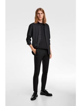 Super Skinny Pants With Chain View All Trousers Man by Zara