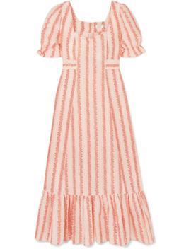 Kate Floral Print Cotton Midi Dress by Rixo