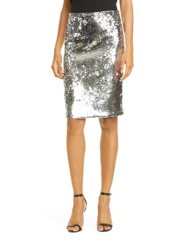 Ramos Sequin Pencil Skirt by Alice + Olivia