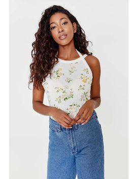 Floral High Neck Tank Top by Ardene