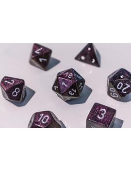 Magenta Chrome Polyhedral Dice Set by Etsy
