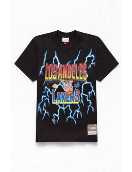 Mitchell & Ness Lightning Lakers T Shirt by Pacsun