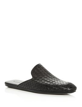Men's Woven Leather Slippers by Bottega Veneta