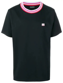 Striped Neckline T Shirt by Acne Studios