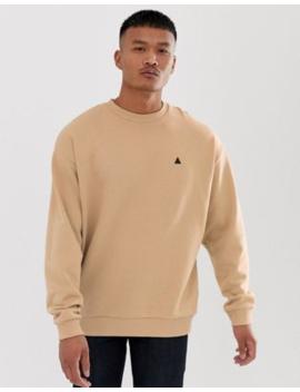 Asos Design – Oversize Sweatshirt In Beige Mit Dreieckdetail by Asos