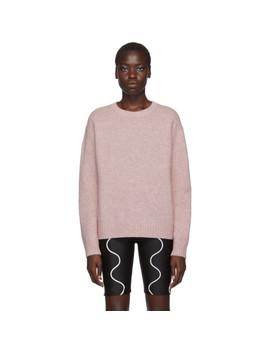 Pink Samara Crewneck Sweater by Acne Studios