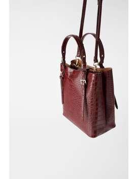 Animal Embossed Shopper Bag Bagswoman Shoes &Amp; Bags by Zara