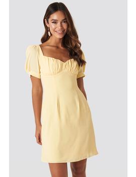 Bust Puff Sleeve Mini Dress Gelb by Na Kd Boho