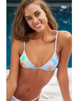 La Hearts Tie Dye Cape Contrast Triangle Bikini Top by Pacsun