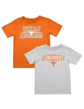 Texas Longhorns Toddler Boys' 2pk T Shirt   Orange/Gray by Shirt