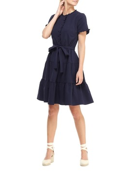 Maisie Microcheck Tiered Dress by Gal Meets Glam Collection