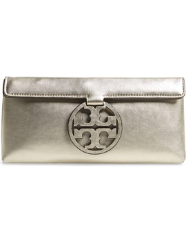 Miller Metallic Leather Clutch by Tory Burch