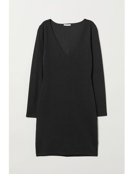 Jerseykleid Mit V Neck by H&M