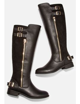 Tayler Zip & Buckle Riding Boot by Justfab