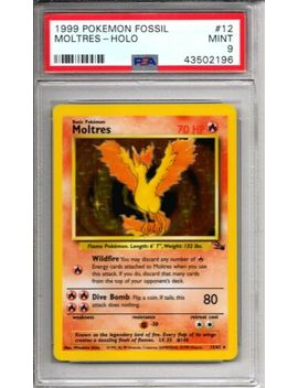 1999 Pokemon Fossil Unlimited Holo Moltres 12/62 Psa 9 Mint by Ebay Seller