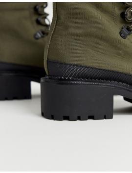 Asos Design Alix Hiker Boots In Khaki by Asos Design