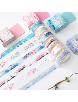 4cm Flower Falls Kawaii Deco Adhesive Paper Floral Masking Washi Tape Stickers Scrapbooking Office Decoration Cute Stationary by Ali Express.Com