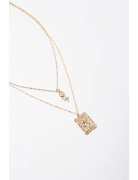 Rose Pendant Layered Necklace by Forever 21