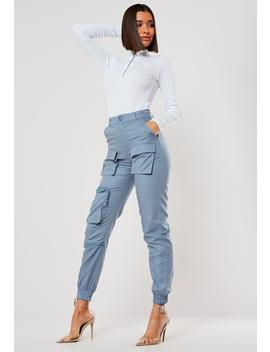 gray-3d-pocket-cargo-pants by missguided