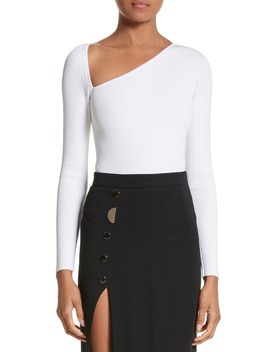 Et Ochs Vivian Asymmetrical Neck Knit Bodysuit by Cushnie