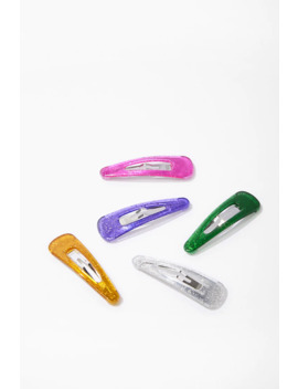 Glitter Hair Clips Set by Forever 21