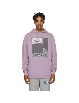 Purple 'real Beauty' Hoodie by Filling Pieces