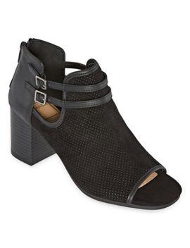 New York Transit Womens Cherise Booties Block Heel by New York Transit