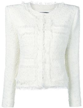 Fringed Design Tweed Jacket by Balmain