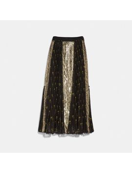 Long Pleated Skirt by Coach