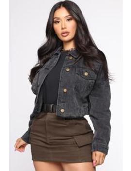 Sweet Desire Denim Jacket   Black by Fashion Nova