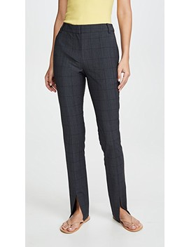 Slim Pants With Front Slit Detail by Tibi