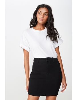 Chloe Stretch Denim Mini Skirt by Cotton On