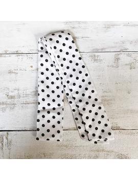 polka-dot-black_white-women-skinny-scarf by etsy