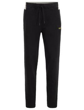 Regular Fit Jogging Pants With Contrast Panel by Boss