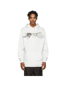 White 'respect The Old' Hoodie by Filling Pieces