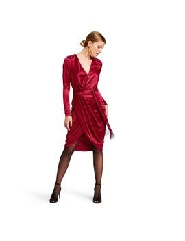 Women's Long Sleeve Deep V Neck Wrap Dress   Altuzarra For Target Red by Neck Wrap Dress