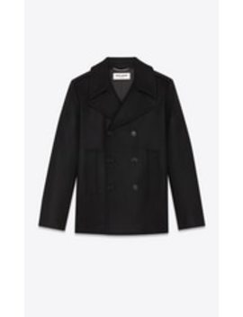 Pea Coat In Wool Felt by Saint Laurent