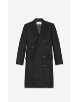 Spangled Tweed Overcoat by Saint Laurent