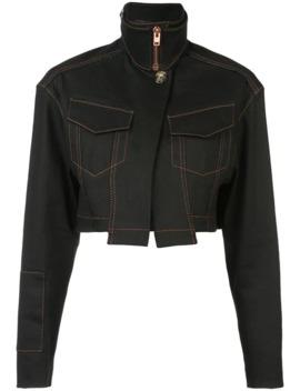 Topstitch Denim Cropped Jacket by Proenza Schouler