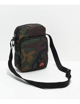 Nike Sb Heritage Iguana Green Camo Shoulder Bag by Nike Sb