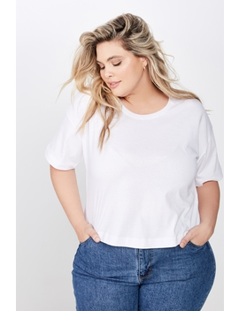 Curve Mid Sleeve Oversize Crop by Cotton On