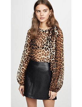 Leopard Long Sleeve Blouse by No. 21