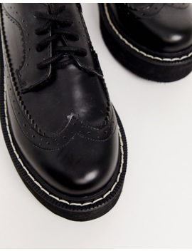 Asos Design Majority Chunky Brogue In Black by Asos Design
