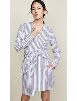 V Neck Shirtdress by Tibi