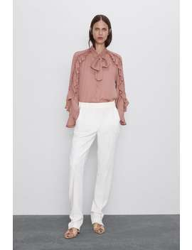 Buttoned Hem Pants New Inwoman by Zara