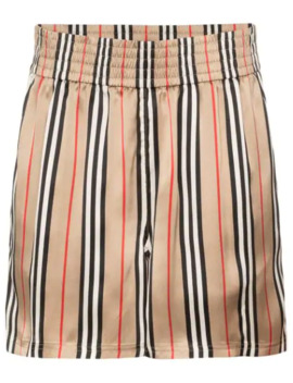 Marsett Icon Striped Shorts by Burberry