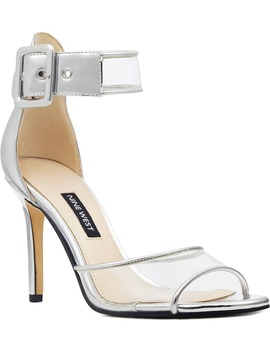 mila-clear-strap-sandal by nine-west